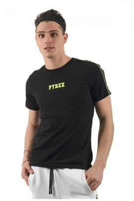 PYREX T-shirt with mesh straps and fluorescent logo