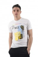 PYREX Crew neck t-shirt and logo print