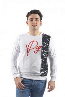 PYREX Two-tone sweatshirt and logo max - WHITE