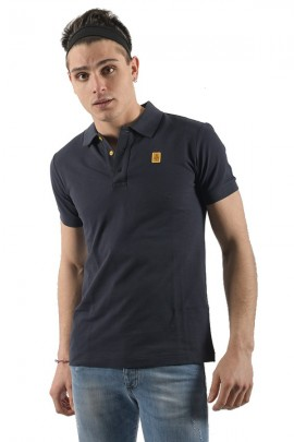 REFRIGIWEAR Basic polo shirt and under-collar in contrast