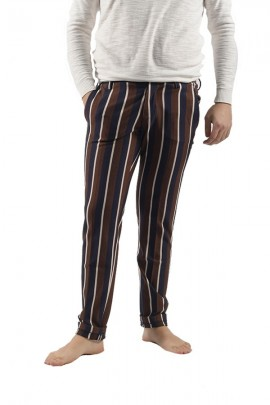 ROBERTO PEPE Striped chino trousers