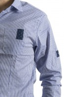 FDM Micro-striped shirt with polka dots