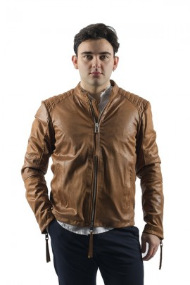 IMPERIAL Faux leather biker jacket