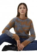 LIU JO Patterned sweater in lurex