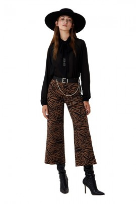 LIU JO Animalier cropped trousers
