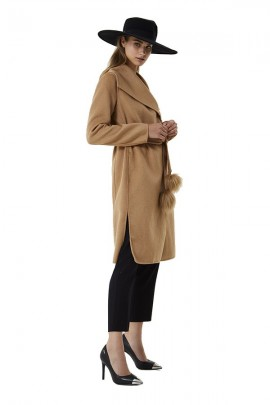 LIU JO Long coat with belt