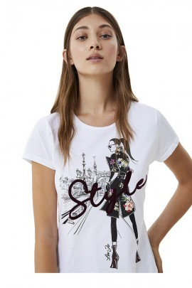 LIU JO T-shirt with print and logo