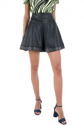 GUESS Faux leather skirt and studs - BLACK
