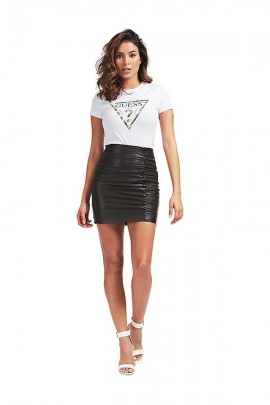 GUESS Miniskirt in faux leather and curl