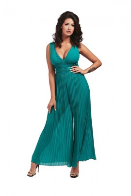 GUESS Palazzo pleated suit - VERDE
