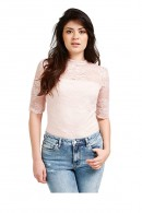 GUESS 3/4 sleeve lace top
