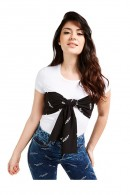 GUESS T-shirt with logoed bow