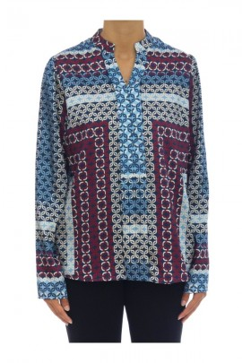 KOCCA Korean neck patterned blouse