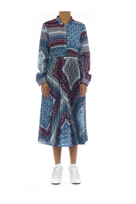 KOCCA Patterned dress and pleated skirt