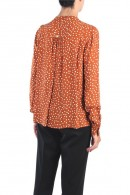 KOCCA Korean collar dot patterned shirt
