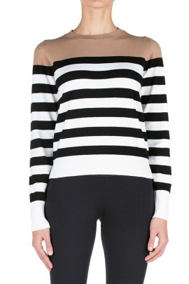 KAOS Crewneck striped sweater