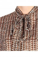 KAOS Micro-patterned blouse and neck bow