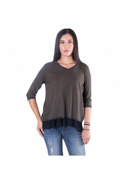 FRACOMINA Sweater with back slit and lurex