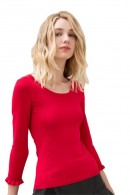 FRACOMINA 3/4 sleeve wide crewneck sweater