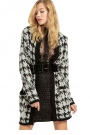 FRACOMINA Long patterned cardigan and belt