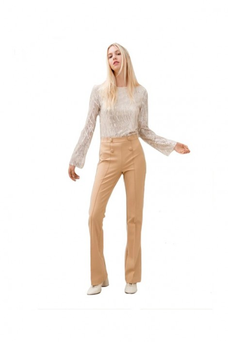 FRACOMINA Flared trousers and high waist