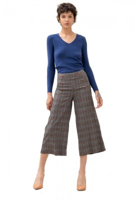FRACOMINA Cropped short checked pattern