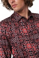 IMPERIAL Long sleeve floral patterned shirt