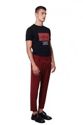 IMPERIAL Trousers with low crotch and chain - BORDEAUX