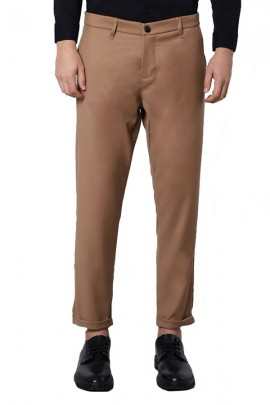 IMPERIAL Chino trousers with turn - BEIGE