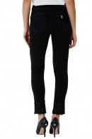 LIU JO Skinny ankle jeans with stones and lace