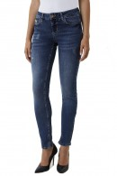 LIU JO Skinny jeans with tears and stones