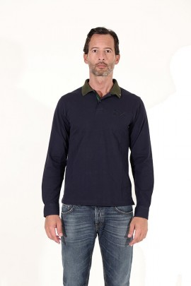 SUN 68 Polo shirt with contrasting collar