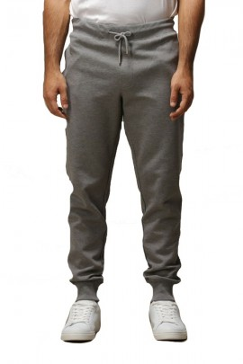 SUN 68 Fleece trousers with cuff and contrast - GREY