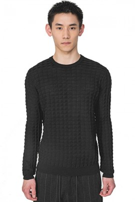 ANTONY MORATO Knitted crewneck sweater - GREY SMOKE