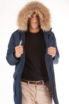 CENSURED Long jacket with hood and fur - VERDE
