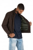 CENSURED Suede faux leather jacket