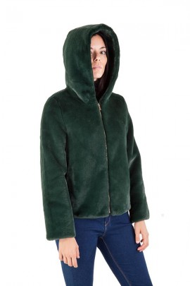 CENSURED Short faux fur with hood