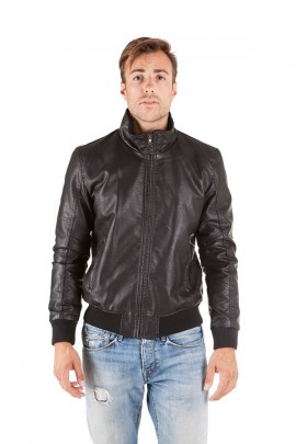 CENSURED Aged eco-leather jacket