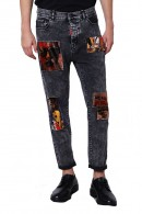 IMPERIAL Jeans with patterned patches