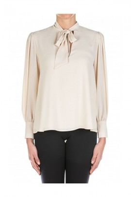 KAOS Blouse with bow and jewel cuff
