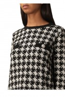 KAOS dress in lurex patterned knit and jewel buttons