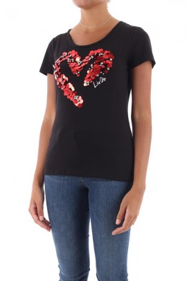 LIU JO Sequined heart t-shirt