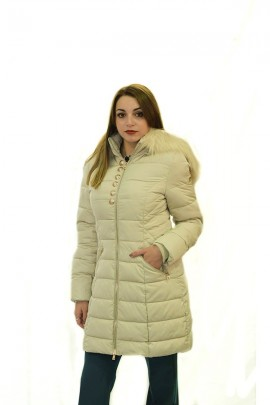 FRACOMINA Lounghette jacket with hood and fur