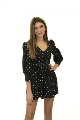 GUESS Short suit with polka dot pattern - BLACK