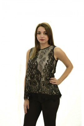 KAOS Tank top in lace and lace