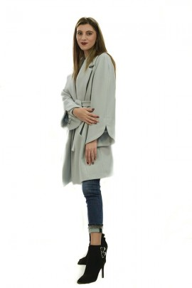 KOCCA Coat with belt and bell sleeve