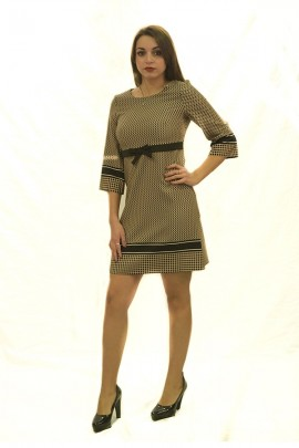 RINASCIMENTO Checked patterned dress and bow