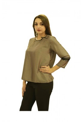 RINASCIMENTO Micro-checkered blouse