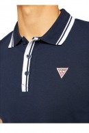 GUESS Polo with collar contrasts