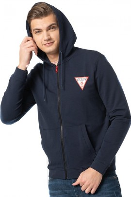 GUESS Sweatshirt with zip and hood - BLUE